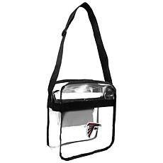 Officially Licensed NFL Clear Carryall Crossbody - Falcons