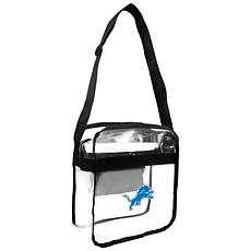 Officially Licensed NFL Clear Carryall Crossbody - Lions