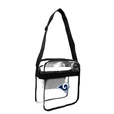 Officially Licensed NFL Clear Carryall Crossbody - Rams