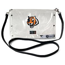 Officially Licensed NFL Clear Envelope Purse - Bengals