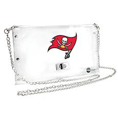 Officially Licensed NFL Clear Envelope Purse - Buccaneers