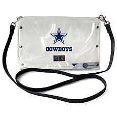 Officially Licensed NFL Clear Envelope Purse - Cowboys