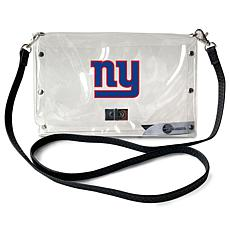 Officially Licensed NFL Clear Envelope Purse - Giants