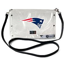 Officially Licensed NFL Clear Envelope Purse - Patriots