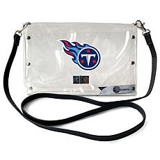 Officially Licensed NFL Clear Envelope Purse - Titans
