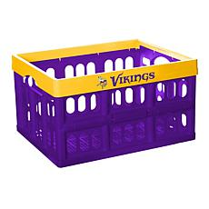 Officially Licensed NFL Collapsible Crate - Minnesota Vikings