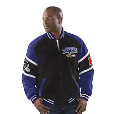 Officially Licensed NFL Colorblocked Suede Jacket by Glll