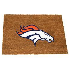 Officially Licensed NFL Colored Logo Door Mat - Broncos