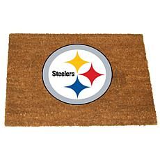 Officially Licensed NFL Colored Logo Door Mat - Steelers
