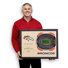 Officially Licensed NFL Denver Broncos StadiumView 3D Wall Art