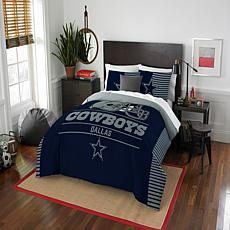 Officially Licensed NFL  Draft Full/Queen Comforter Set - Cowboys