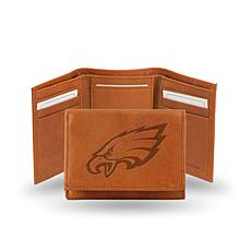 Officially Licensed NFL Embossed Leather Trifold - Eagles