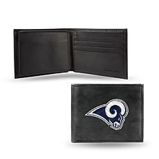 Officially Licensed NFL Embroidered Leather Billfold - Rams