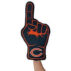 Officially Licensed NFL Foam Finger Plush Pillow - Chicago Bears