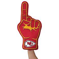 Officially Licensed NFL Foam Finger Plush Pillow - Kansas City Chiefs