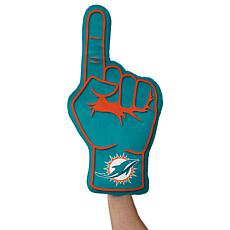Officially Licensed NFL Foam Finger Plush Pillow - Miami Dolphins