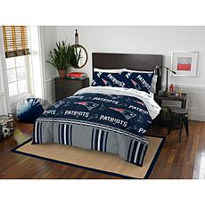Officially Licensed NFL Full Bed in a Bag Set - New England Patriots