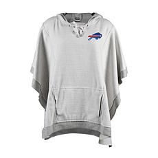 Officially Licensed NFL Heathered Hoodie Poncho - Buffalo Bills