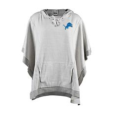e4937ded Officially Licensed NFL Heathered Hoodie Poncho - Detroit Lions