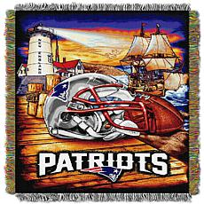 Officially Licensed NFL Home Field Advantage Throw Blanket - Patriots