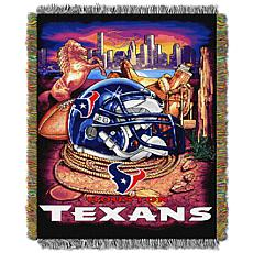 Officially Licensed NFL Home Field Advantage Throw Blanket - Texans