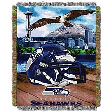 Officially Licensed NFL Home Field Advantage Throw Blanket - Seahawks