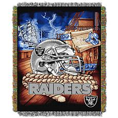Officially Licensed NFL Home Field Advantage Throw Blanket - Raiders