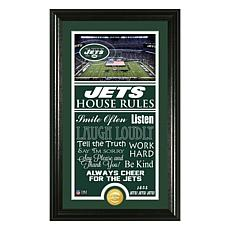 Officially Licensed NFL House Rules Team Sign with Bronze Mint Coin