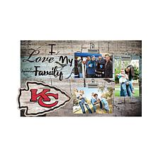 Officially Licensed NFL I Love My Football Family Clip Frame