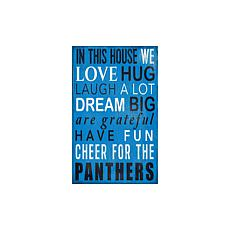Officially Licensed NFL In This House Sign - Carolina Panthers