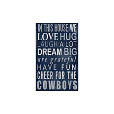 Officially Licensed NFL In This House Sign - Dallas Cowboys