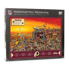 Officially-Licensed NFL Joe Journeyman Puzzle - Washington Redskins