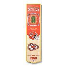 Officially Licensed NFL Kansas City Chiefs 3D Stadium Banner