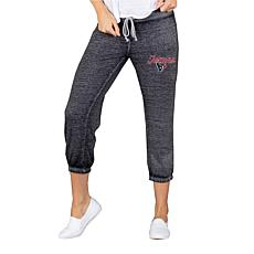 Officially Licensed NFL Knit Capri Pant by Concept Sports - Texans