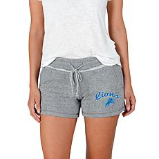 Officially Licensed NFL Mainstream Ladies Knit Shorts - Lions