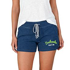 Officially Licensed NFL Mainstream Ladies Knit Shorts - Seahawks