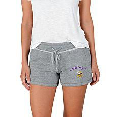 Officially Licensed NFL Mainstream Ladies Knit Shorts - Vikings