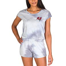 Officially Licensed NFL Marina Ladies Knit SS Romper - Buccaneers