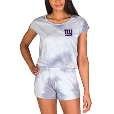 Officially Licensed NFL Marina Ladies Knit SS Romper - Giants