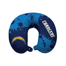 Officially Licensed NFL Memory Foam Travel Pillow - LA Chargers