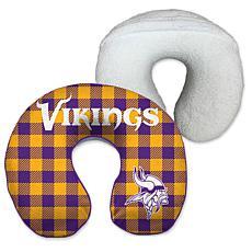 Officially Licensed NFL Memory Foam Travel Pillow - Minnesota Vikings