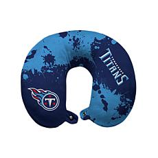 Officially Licensed NFL Memory Foam Travel Pillow - Tennessee Titans