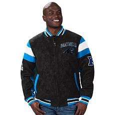 Officially Licensed NFL Men's Faux Suede Jacket by Glll