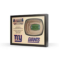 Officially Licensed NFL New York Giants StadiumView 3D Wall Art