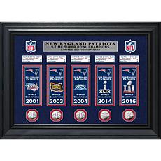 Officially Licensed NFL Patriots Champions Deluxe Banner Collection