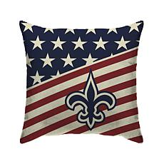 Officially Licensed NFL Pegasus Sports Americana Pillow - Saints