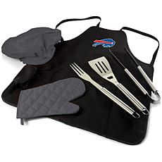 Officially Licensed NFL Picnic Time Apron Tote Pro Grill Set - Bills