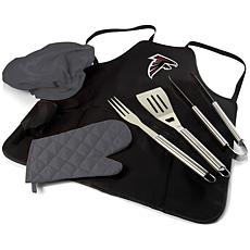 Officially Licensed NFL Picnic Time Apron Tote Pro Grill Set - Falcons