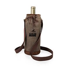 Officially Licensed NFL Picnic Time Waxed Canvas Wine Tote - Clevel...