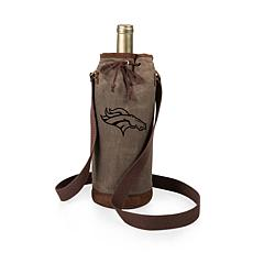 Officially Licensed NFL Picnic Time Waxed Canvas Wine Tote - Denver